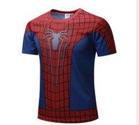 tişört batman toptan satış-Yeni 20193D T Shirt Batman Spiderman Ironman Superman Kaptan Amerika asker Marvel T gömlek Avengers Kostüm Comics Superhero ...