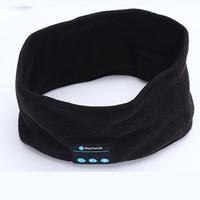 kafa bandı hoparlörleri toptan satış-Moda Kablosuz Sıcak Bluetooth Bandı Akıllı Spor Yoga Unisex Için Kulaklık Kulaklık Hoparlör Mic Cap Caps