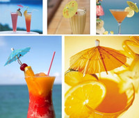 Wholesale umbrella drinks resale online - 50 Paper Cocktail Parasols Umbrellas drinks picks wedding Event Party Supplies Holidays luau sticks EEA197