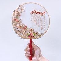 düğün hayranları toptan satış-Yeni Çin Tarzı Gelin Hayranları düğün malzemeleri Boncuk El Yapımı, gelin Çin elbise Boyutu 21 cm * 33 cm