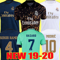Wholesale xxl real madrid jersey resale online - Real madrid Jerseys HAZARD Isco REINIEsoccer jersey SERGIO RAMOS MODRIC BALE football shirt uniforms kit camisetas EA sports