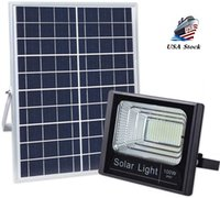 Wholesale bright white led panel for sale - Group buy Solar LED Light Spotlight W W W W W W Super Bright Solar Powered Panel Floodlight IP67 Street Lights with Remote control