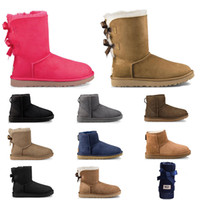Wholesale toe shoes resale online - 2020 designer australia women boots classic snow fur boot ankle shot for winter triple black chestnut navy blue red fashion women shoe