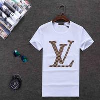 tee de couple de marque achat en gros de-Marque T Shirts 2019 Été Hommes Femmes Couple Designer Top Tees À Manches Courtes Pull Taille M-3XL E8
