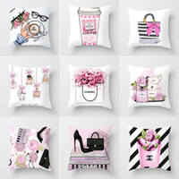 Wholesale knit throw pillows resale online - The new series of small perfume bottle peach pillow cover cushion against the pillowcase custom home throw pillow cushion luxury