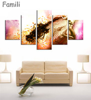 décor de chambre fantastique achat en gros de-5Pcs set canvas art Printed fantasy angels warrior Painting Canvas Print room decor print poster picture canvas