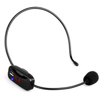 Wholesale tour guide transmitter resale online - Wireless Microphone Headset MIC Voice FM Transmitter MHz Rechargeable Battery for Teaching Tour Guide Y443