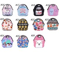 Wholesale thermal insulated cooler bags for sale - Group buy 3D Printed Thermal Insulated Lunch Box Emoji Unicorn Waterproof Picnic Snack Bags Cooler Insulation Storage Containers Ice Bag ZZA1912