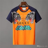 özel markalı toptan satış-gucci Sıcak Yaz Moda Markaları LOGOSU Nakış T Gömlek erkek Yüksek Kalite Tops Tees Özel adam t-shirt Rahat Pamuk Nefes giyim üst