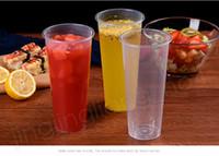 tek kullanımlık bardak toptan satış-700 ML Tek Kullanımlık Plastik Bardaklar Kalınlaşmak Enjeksiyon Isıya Dayanıklı Süt Çay Bardağı Şeffaf Sıcak İçecekler Suyu Kahve Kupa FFA2298
