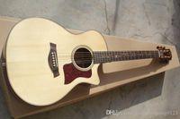 ingrosso chitarra costruita-Qualità di abete rosso di Solid Taylor K24CE 6 stringhe elettrica chitarra acustica built-in EQ Pickups !! Spedizione gratuita