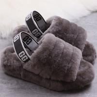botas de nieve otoño invierno moda al por mayor-2020 hot WOMEN Australia WGG Fluff Yeah zapatillas de diseñador de moda de moda casual zapatos botas mujer zapatos otoño e invierno Snow Boots US4-11