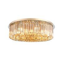 amber kristal avize aydınlatma toptan satış-Yeni tasarım kısılabilir lüks amber kristal avize aydınlatma modern avizeler villa oturma odası yatak odası için ışıkları led tavan lambaları