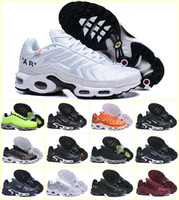 sapatilhas das novas chegadas venda por atacado-Os Recém-chegados 2019 AR Original TN Maxes Além de Sapatos Respirável MESH Noir Tn Requin Tuss Chaussures OG Jogging Tênis De Basquete Zapatillaes