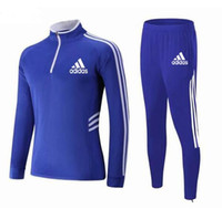 trajes de uniforme para niñas al por mayor-Nueva ropa de fútbol para niños Traje Ropa para niños de alta calidad Chicos transpirables Uniformes del equipo de entrenamiento Manga larga Sportswe