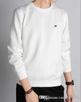 ingrosso giacche a colletto rotondo-Uomo primavera e autunno nuova maglietta a maniche lunghe T-shirt da uomo inizio autunno giacca per il tempo libero girocollo testa copertura maglione