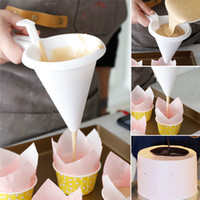 pasta pastası toptan satış-Ayarlanabilir Buzlanma Şeker Huni Çikolata Pasta Hamur Dağıtıcı Krem Çerez Cupcake Gözleme Muffin Huni Mutfak Pişirme Araçları