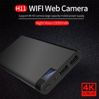 ingrosso telecamera wireless a batteria-4K WIFI Banca di alimentazione Telecamera IP H11 HD 1080P Visione notturna Mobile Power Bank Videoregistratore Wireless Security Batteria di sorveglianza Mini DVR