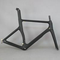 рамы для велосипедов из углеродного волокна оптовых-Аэро дизайн Сверхлегкий 18K переплетения карбоновый дорожный велосипед рама карбоновый гоночный велосипед рамы 700c колеса