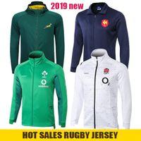 толстовки команд оптовых-2019 Южная Африка Куртка Национальная сборная 19 20 Ирландия Спортивный костюм Куртка для регби Толстовки All Blacks Регби-майки