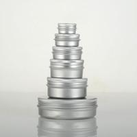 boş konteyner kozmetik toptan satış-Boş Alüminyum Krem Kavanoz Kalay 5 10 15 30 50 ML Kozmetik Dudak Balsamı Konteynerler Tırnak Kasma El Sanatları Pot Şişe