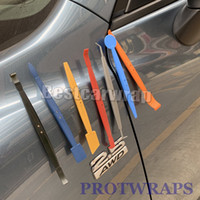 meilleures voitures en kit achat en gros de-2019 Meilleure vente! Edge a fini les outils de raclette magnétique Kit pour la voiture WRAP grattoir magnétique outil Livraison gratuite
