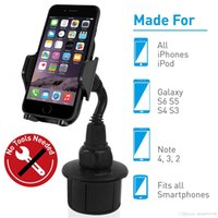 Wholesale car cup holder phone resale online - Universal Adjustable Car Cup Holder Cradle Phone Mount for iPhone Xs XS Max XR X plus Plus s Plus SE Samsung Galaxy
