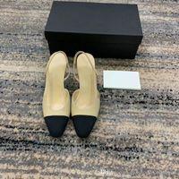 bej parti sandaletleri toptan satış-Kadın Slingbacks Yüksek Topuk Sandalet, Klasik Çıplak Deri Bej Gri Bayanlar Partisi için Pompalar, Düğün Soyunma Ayakkabıları