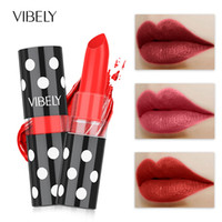 Wholesale small size lipstick online - Moisturizing Lip Balm Colors Long Lasting Easy To Lipstick Wear Retro Red Aunt Sexy Red Small Pepper Color Nude Hot Style
