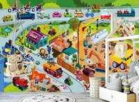 Wholesale toy moulds resale online - Self Adhesive D Toy Doodle WG0701 Wall Paper mural Wall Print Decal Wall Murals Muzi