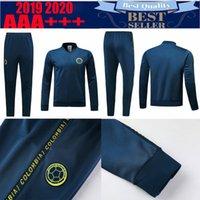 conjuntos de futebol azul venda por atacado-2019 conjuntos de futebol da Colômbia Colômbia jaquetas de futebol 2019 2020 # 10 JAMES # 9 FALCAO # 11 CUADRADO Thai afastado azul Uniformes de treino de futebol kits