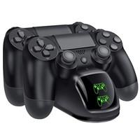 xbox bir şarj edilebilir toptan satış-BLUELOONG E20-UK PS4 Denetleyici Şarj, DualShock 4 PS4 Denetleyici USB Şarj İstasyonu Dock, Playstation 4 Şarj