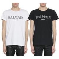 los mejores diseñadores de moda negro al por mayor-Balmain para hombre camisetas diseñador negro blanco rojo amarillo para hombre moda casual ropa diseñador camisetas Top manga corta S-XXL