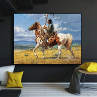 Wholesale art horses oil painting for sale - Group buy American Horse Figure Abstract Oil Painting on Canvas Cuadros Posters and Prints Wall Art Picture No Framed
