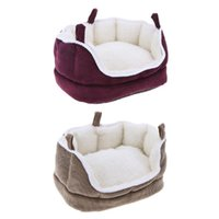 Small Animals Cages Guinea Pig Bed Hamster House Small Animal Winter Warm Rabbit House Washable Hamster Squirrel Cavy Nest Pet Sofa