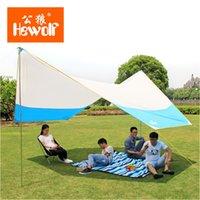 ingrosso tende di alta qualità-2 colori per scegliere! Di alta qualità 465 * 400 * 250 cm pali di ferro tenda da spiaggia UV riparo del sole tenda da campeggio tenda telone