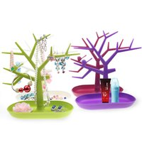 Wholesale necklace earring bracelet jewelry displays resale online - H190026 Plastic Tree Branch Jewelry Displays Packaging For Ring Earrings Bracelet Necklaces Organizer Makeup Stand Key Holder