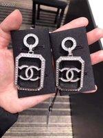 ingrosso fascino animale del rhinestone-Borchie di diamante serpente di design di lusso per le donne orecchini pendenti con orecchini di perle di serpente animali strass