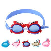 7a852fc44 5 cores crianças óculos de sol unicórnio bonito à prova d  água anti-fog  crianças óculos de natação óculos high-end dos desenhos animados espelho  com ...