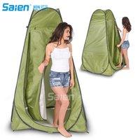 instant zelt im freien großhandel-Pop Up Privacy Zelt Instant tragbare Außendusche Zelt, Camp WC Umkleidekabine, Regenschutz w / Fenster für Strand Einfache Einrichtung, Falten