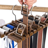armario para cinturones al por mayor-1 UNIDS / CONJUNTO Plastic Tie Belt Scarf Rack Organizador Armario Guardarropa Espacio Ahorro Cinturón con gancho de metal A