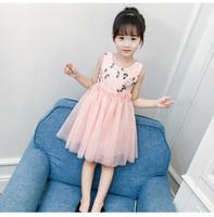 Solid Green Sleeveless Dress For Girl 2019 Casual Summer Knee-length  Regular Children Clothes Cotton Kids Girls Dresses Ds769 7537842cff2d