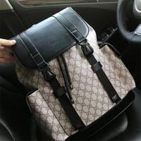 erkekler çift toptan satış-Erkekler ve kadınlar için yeni üst marka sırt çantası hakiki deri çift omuz çantaları mükemmel kalite okul çantaları 11