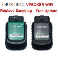 Wholesale vpecker scanner resale online - Original VPECKER Easydiag Wifi Diagnostic Scanner WI FI Version V10 OBD2 Scan Interface Tool Full System Update Online