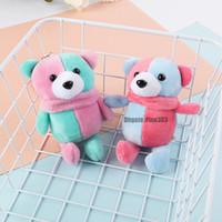 presentes de ursinho de casamento venda por atacado-Super Kawaii Mini 13 cm Conjunta Bowtie Teddy Bear Plush Crianças Brinquedos de Pelúcia Bonecas de Presente de Casamento Para crianças
