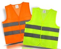 chaleco reflectante amarillo al por mayor-Chaleco reflectante de advertencia Fluorescente Amarillo Artículos de seguridad de reflexión de alta intensidad Seguro para el tráfico Ropa con envío gratuito
