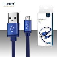 câble usb tressé en nylon achat en gros de-iLepo Android Micro Câble à puce USB 1,5 heures Complet Câble de charge rapide 2.4A Câbles de charge durables Nylon tressé