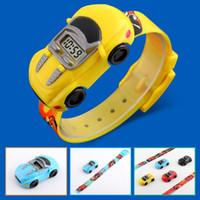 Wholesale acrylic ribbon buckles resale online - 2019 Children Kids Boy Watches Car Toy Digital LED Quartz Sports Electronic Quartz Sport Watch Shock
