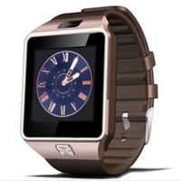 телефоны часы китайские оптовых-Оригинальные DZ09 Умные часы Bluetooth Носимых Устройств Smartwatch Для iPhone Android Телефон Часы С Камерой Часы SIM TF Слот