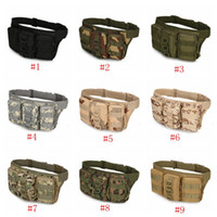 Wholesale outdoor sport military tactical for sale - Group buy Outdoor Molle Waterproof Cycling Pocket Waist Bag Pack Military Tactical Camouflage Climbing Riding Sports Military Bag LJJZ586
